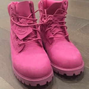 Timberland pink boot